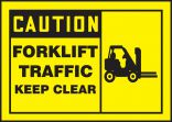 OSHA Caution Safety Label: Forklift Traffic - Keep Clear