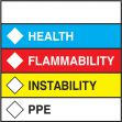 HMCIS Safety Label: Health Flammability Instability PPE