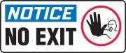 OSHA Notice Safety Sign: No Exit