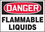 OSHA Danger Safety Sign: Flammable Liquids