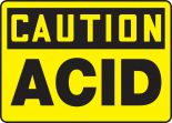OSHA Caution Safety Sign: Acid