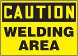 OSHA Caution Safety Sign: Welding Area