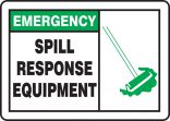 Emergency Safety Sign: Spill Response Equipment