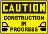 OSHA Caution Safety Sign: Construction In Progress