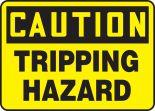 OSHA Caution Safety Sign: Tripping Hazard