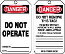 OSHA Danger Safety Tag: Do Not Operate