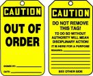 OSHA Caution Safety Tag: Out Of Order