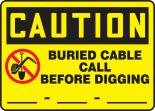 OSHA Caution Safety Label: Buried Cable - Call Before Digging