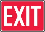 Safety Sign: Exit