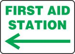 Safety Sign: First Aid Station