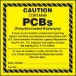 PCB Label: Caution - Contains PCBs