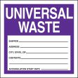 Safety Label: Universal Waste