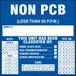 PCB Label: Non PCB (Less Than 50 P.P.M.)