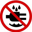 ISO Prohibition Safety Sign: Do Not Expose To Water - 2003