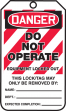OSHA Danger Safety Tags: Do Not Operate - Equipment Locked Out