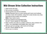 Safety Sign: Mid-Stream Urine Collection Instructions