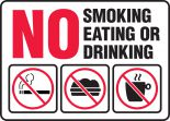Safety Sign: No Smoking Eating Or Drinking