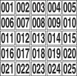 Sequential Number Markers