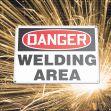 ONE-WAY Printed™ Welding Screens: Danger - Welding Area