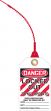 Loop 'n Lock™ Tie Tag OSHA Danger Safety Tag: Locked Out - Do Not Operate