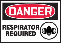 RESPIRATOR REQUIRED (W/GRAPHIC)