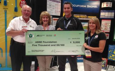 Accuform Signs donates to ASSE