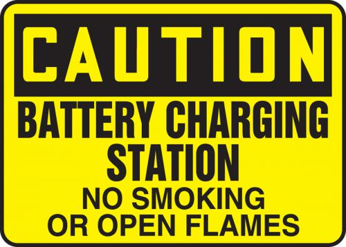 CAUTION BATTERY CHARGING STATION NO SMOKING OR OPEN FLAMES