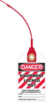 DANGER EQUIPMENT LOCKED OUT