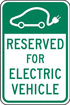 RESERVED FOR ELECTRIC VEHICLE