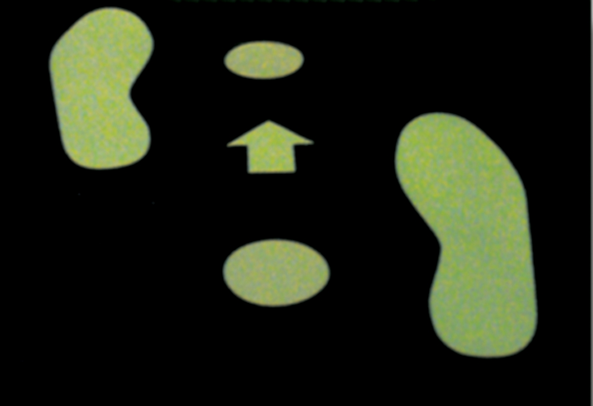 GLOW-IN-THE-DARK FOOTPRINTS