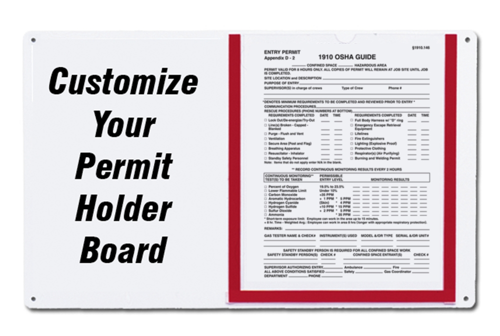 Custom Permit Holder Board<br> <b>Call 1-800-237-1001 for more information</b>