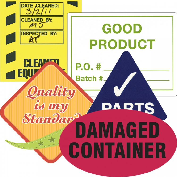 Custom Dura-Vinyl™ Labels, Gloss Surface - Rectangles