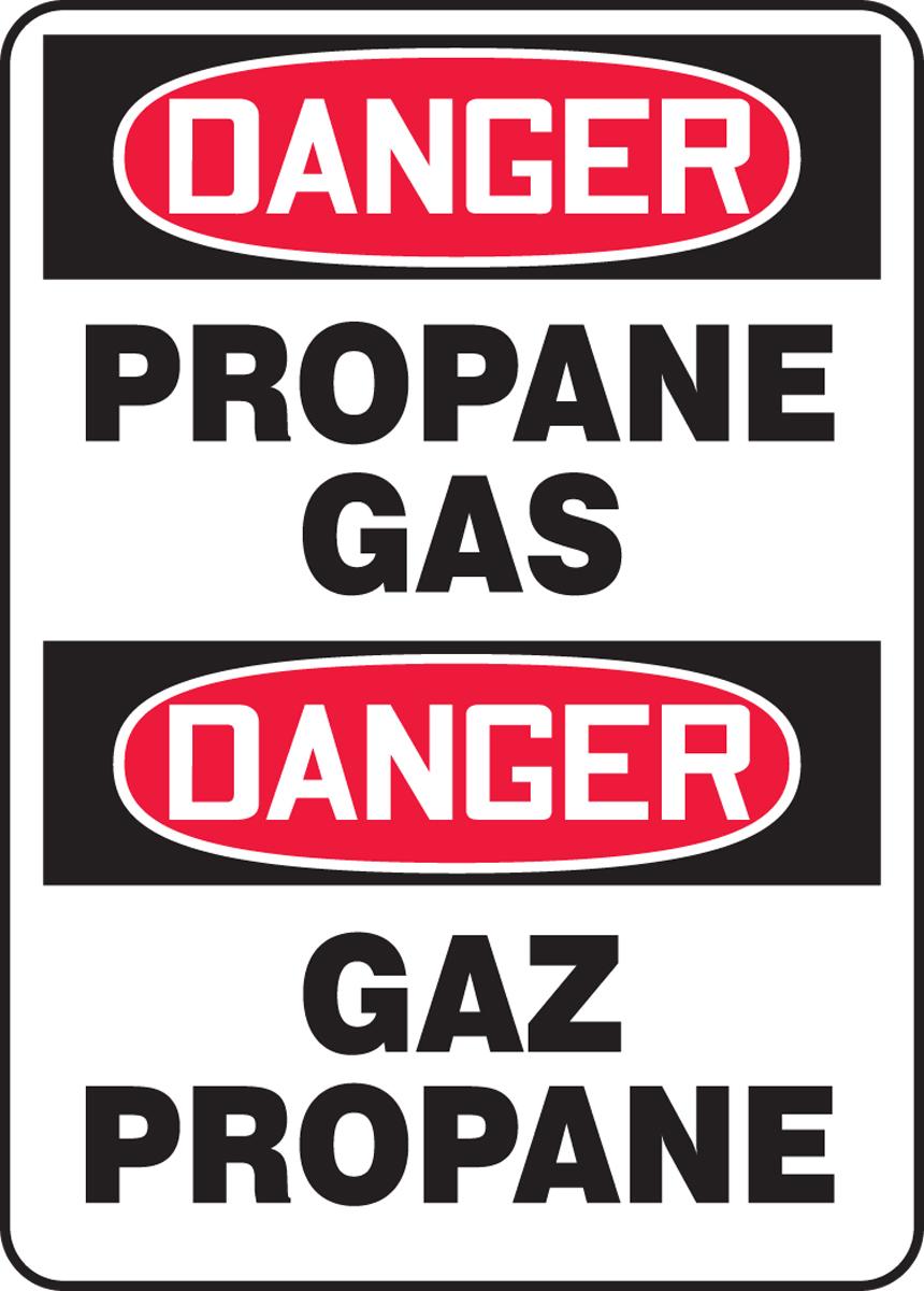 DANGER PROPANE GAS