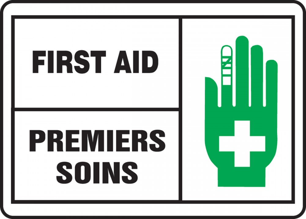 FIRST AID (BILINGUAL FRENCH - PREMIERS SOINS)