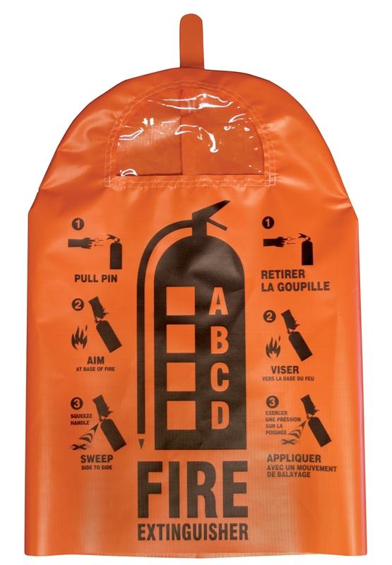 bilingual custom fire extinguisher covers signage