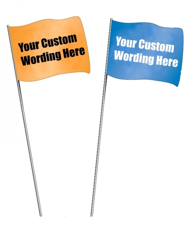 Custom Marking Flags printed with your custom wording
