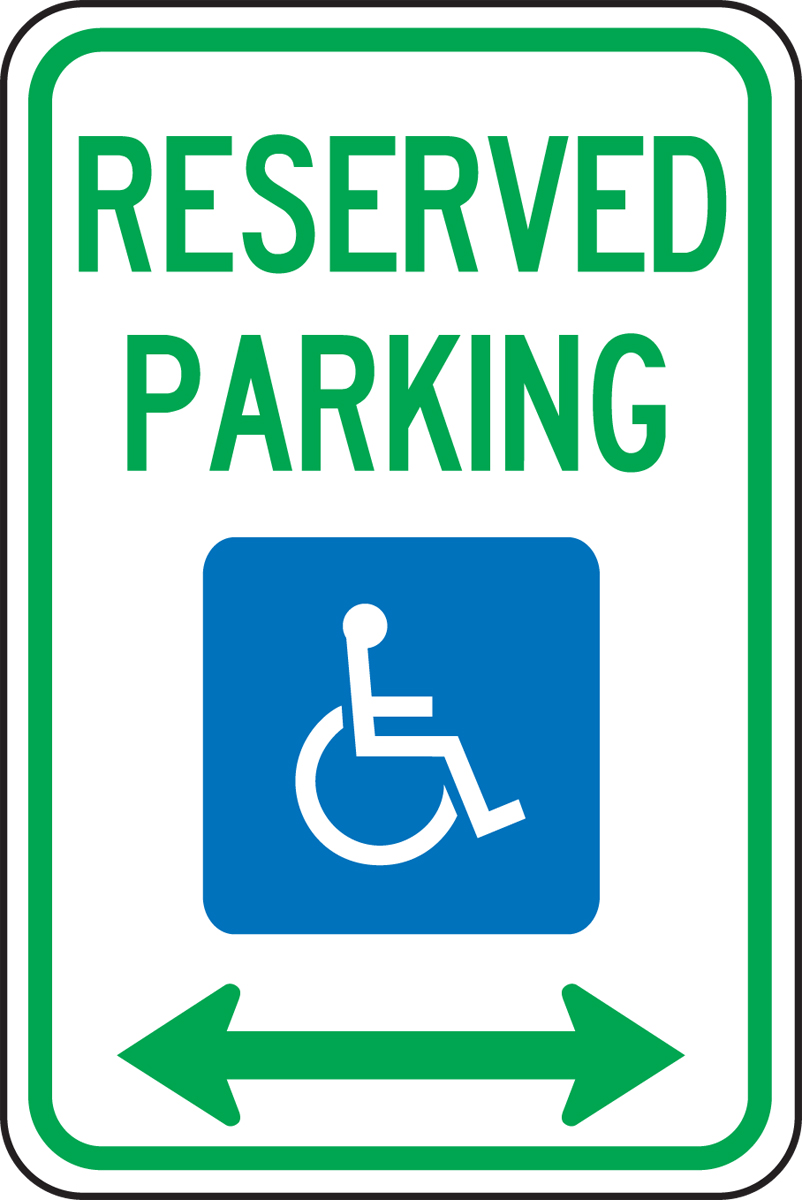 RESERVED PARKING <-----> (W/GRAPHIC)