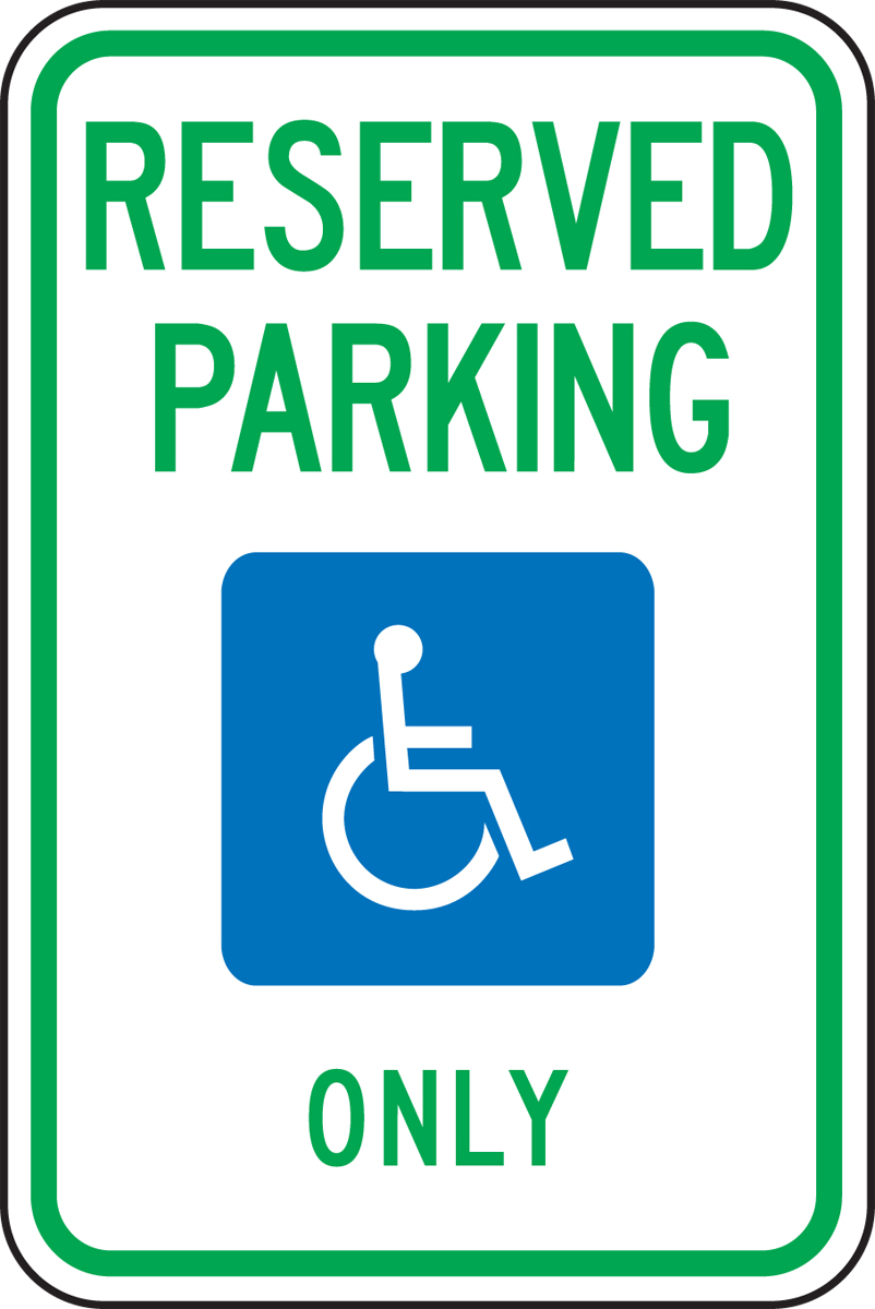 (MICHIGAN) RESERVED PARKING ONLY (W/GRAPHIC)