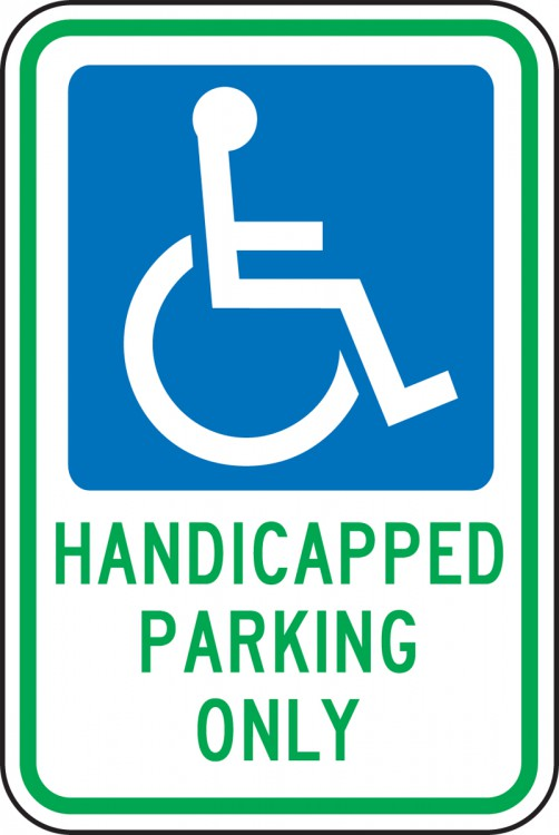 HANDICAPPED PARKING ONLY (W/GRAPHIC)