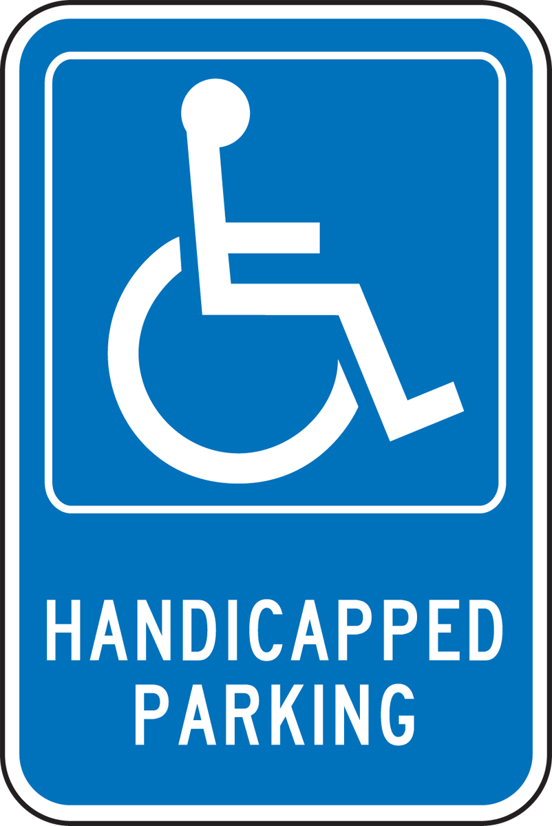 HANDICAPPED PARKING (W/GRAPHIC)