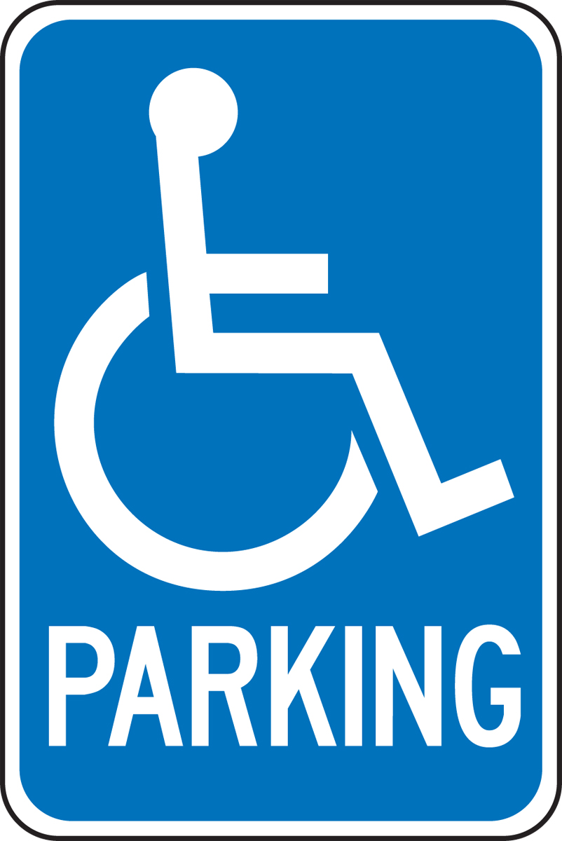 RESERVED HANDICAPPED (W/GRAPHIC)