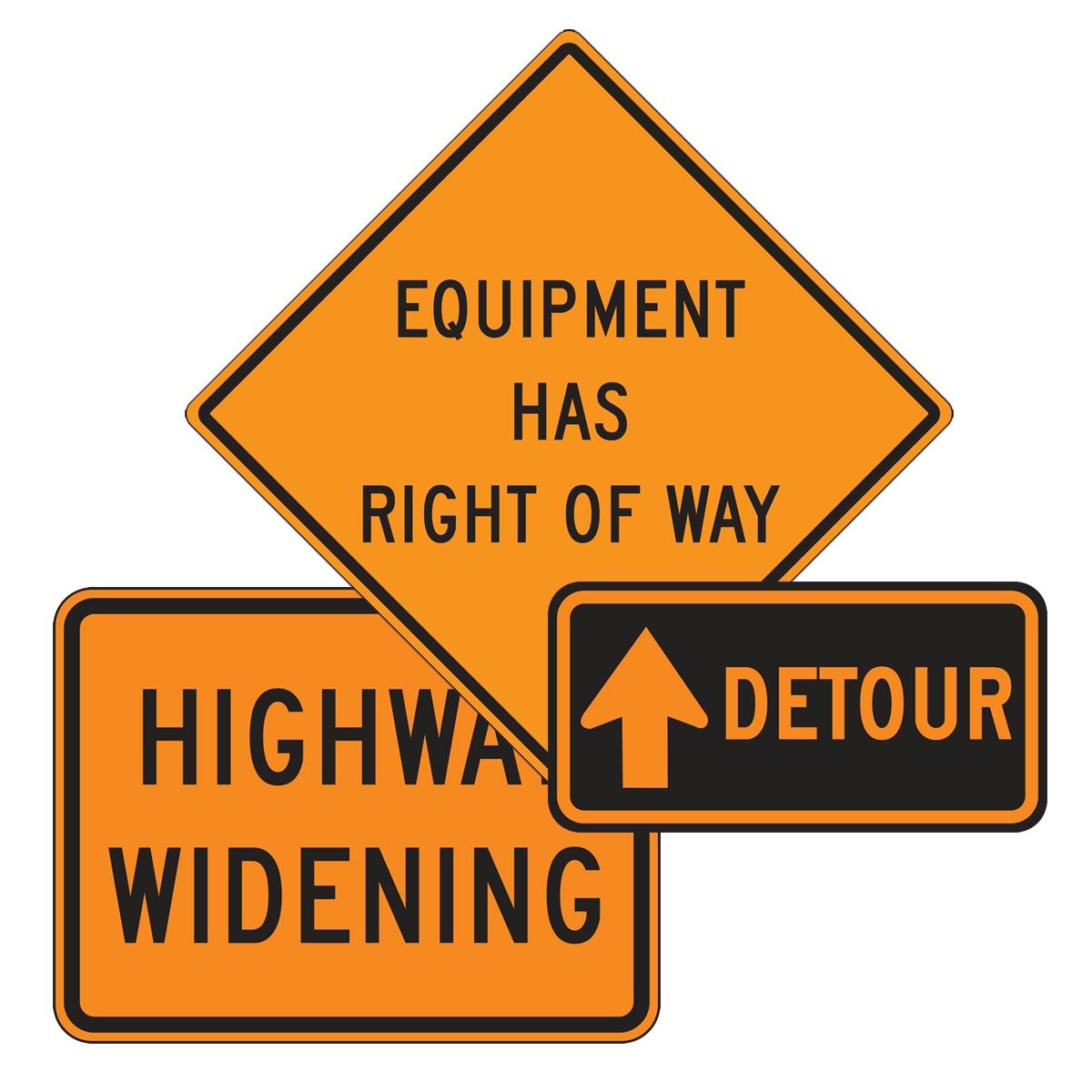 Custom Rigid Construction Signs