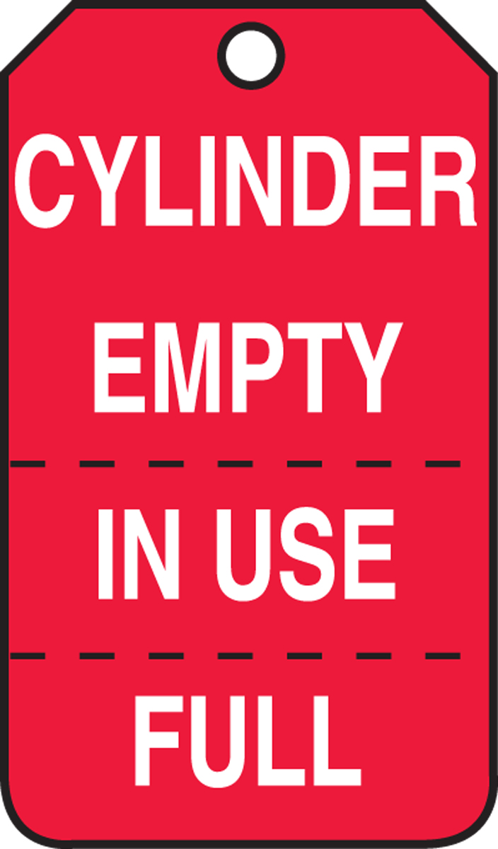 CYLINDER EMPTY IN USE/FULL