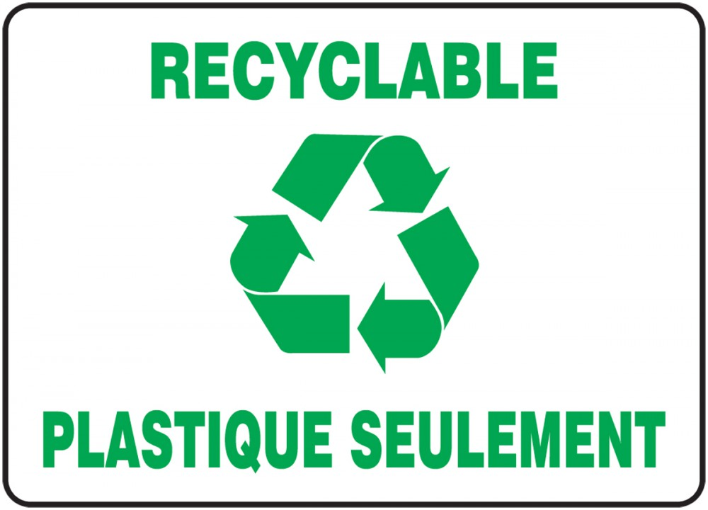 RECYCLABLE PLASTIQUE SEULEMENT (FRENCH)