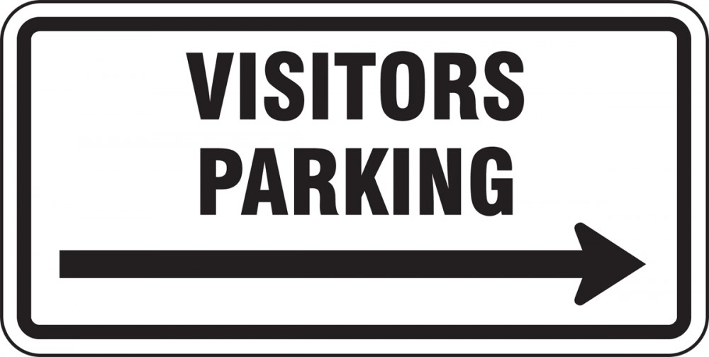 VISITORS PARKING (CHOOSE ARROW)
