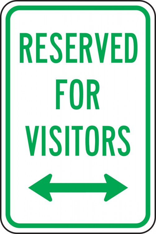 RESERVED FOR VISITORS <--->