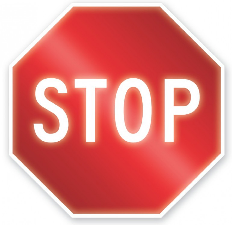 STOP SIGN ISOLATED IMAGE