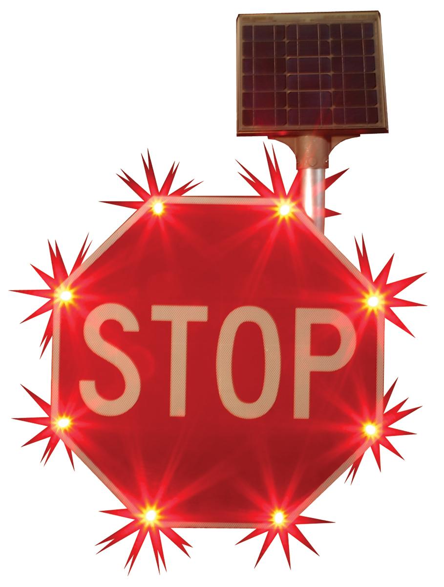 Blinker Stop Sign