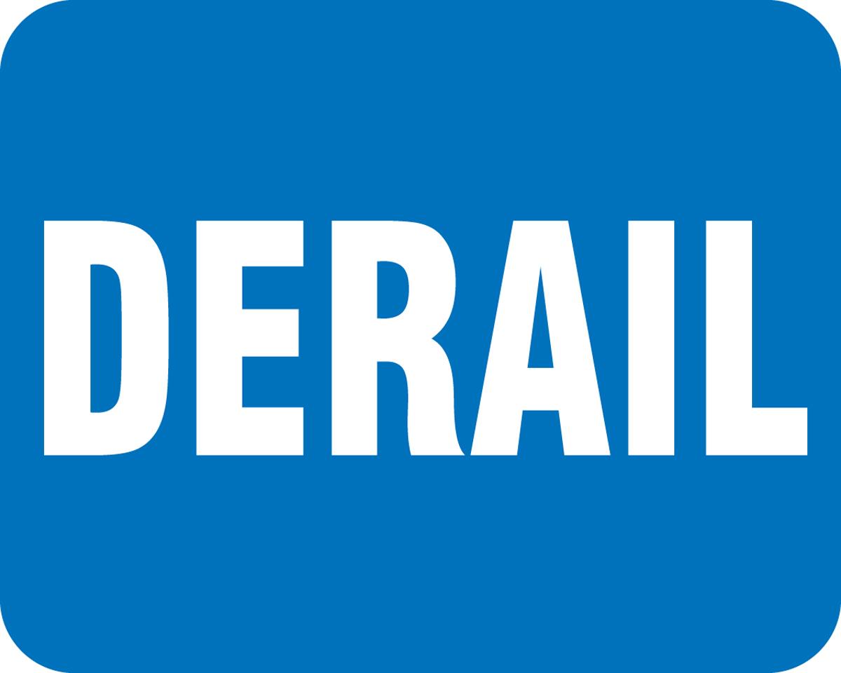 railroad safety signs DERAIL
