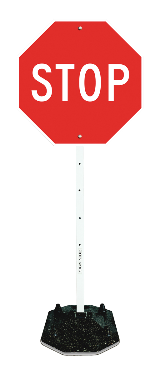 PORTABLE STOP SIGN KIT, portable stop signs